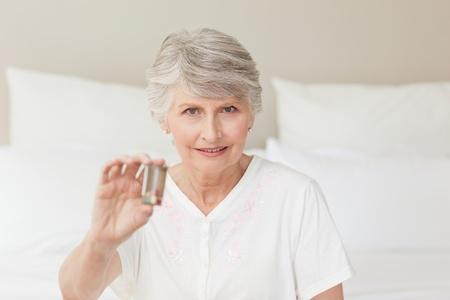 Senior woman looking at the camera photo