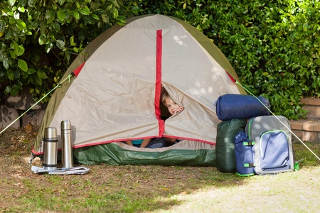 A tent in the garden photo