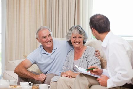 Seniors with assurance man photo
