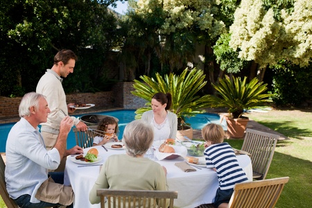 Family eating in the garden Stock Photo - 10205952