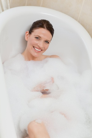 Beautiful woman taking a bath Stock Photo - 10192835