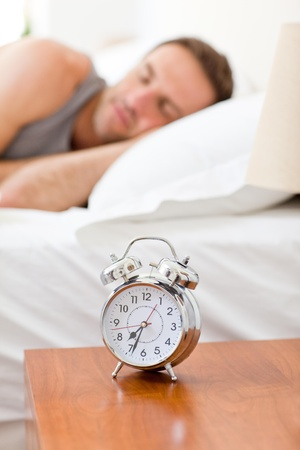 Relaxing man sleeping in his bed Stock Photo - 10195114