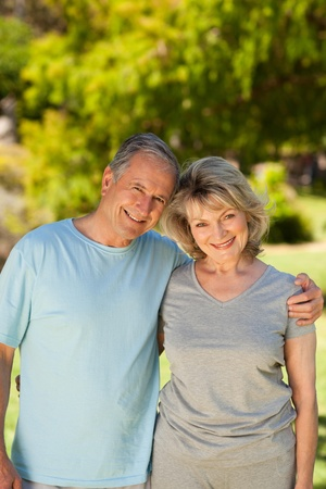 Portrait of a lovely senior couple Stock Photo - 10218899
