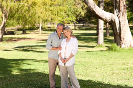 Lovers in the park photo