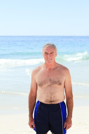 Mature man at the beach Stock Photo - 10213718