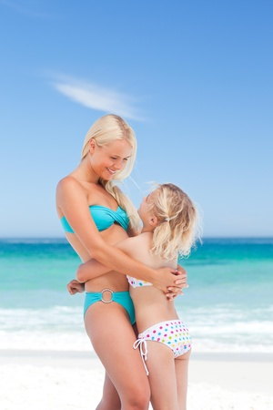 Mother embracing her daughter Stock Photo - 10213723