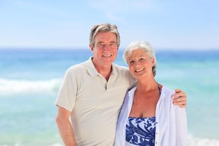 Elderly man embracing her wife Stock Photo - 10214974