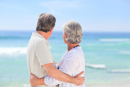 Elderly man embracing her wife Stock Photo - 10213712