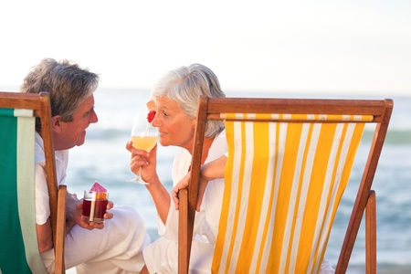 Senior couple drinking a cocktail Stock Photo - 10216173