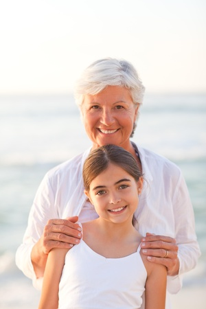 Portrait of a Grandmother with her granddaughter photo
