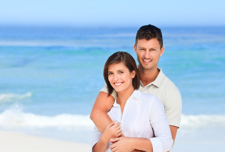 Lovely couple at the beach photo