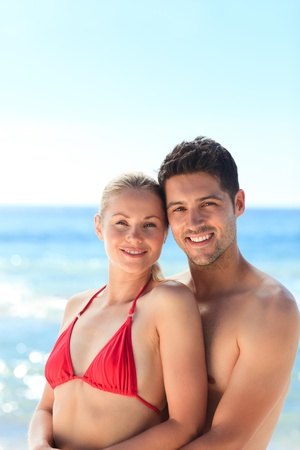 Lovely woman in her boyfriend photo