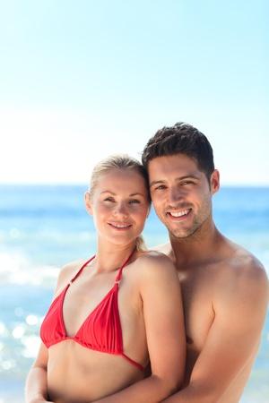 Lovely woman in her boyfriend photo