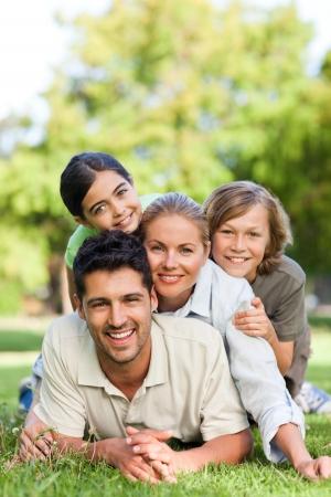 Happy family in the park Stock Photo - 10218348