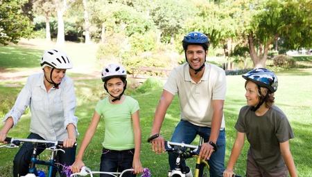 Family with their bikes Stock Photo - 10216884