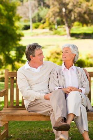 love seat: Senior couple on the bench
