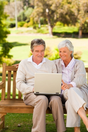 Couple working on their laptop photo