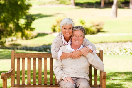 Elderly couple in the park Stock Photo - 10218266