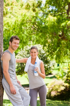outdoor activities: Lovers after the gym