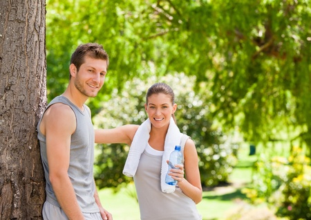 healthy life: Lovers after the gym