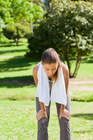 Sporty woman in the park photo