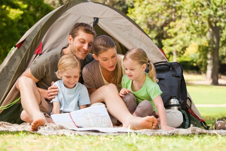 Family camping in the park Stock Photo - 10219458