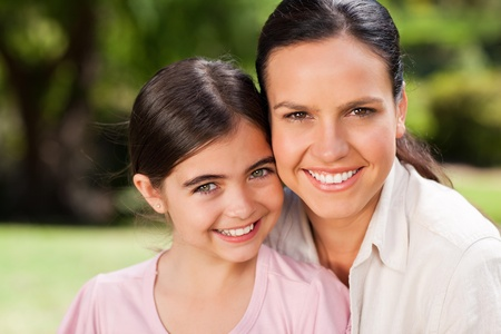 Portrait of a mother and her daughter photo