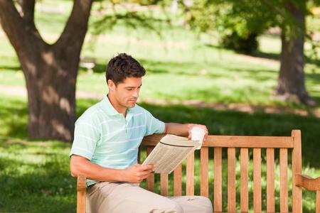 Man reading the newspaper Stock Photo - 10217889