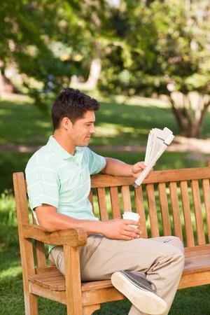 Man reading the newspaper Stock Photo - 10219007