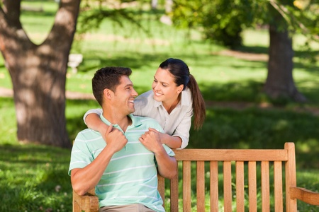 Woman huging her boyfriend Stock Photo - 10218129