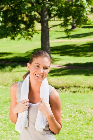 Sporty woman in the park Stock Photo - 10217113