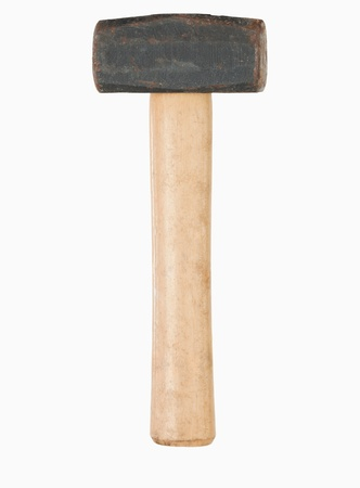 Portrait of a hammer against a white background photo