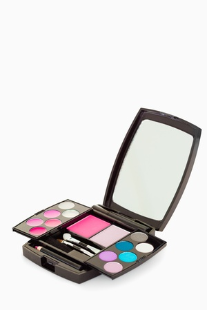 Close up of a makeup palette against a white background photo