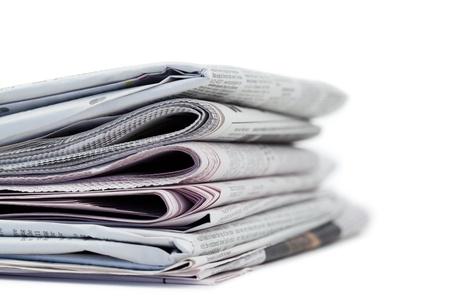 Giornali su un bianco a sfondo Archivio Fotografico