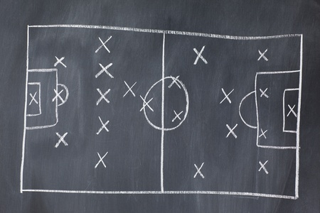 implement: Soccer- Football Strategy Stock Photo