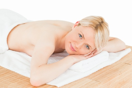 Young beautiful woman posing in a spa centre Stock Photo - 10205819