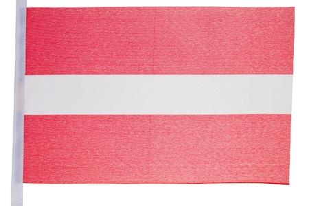 Austrian flag against a white background photo