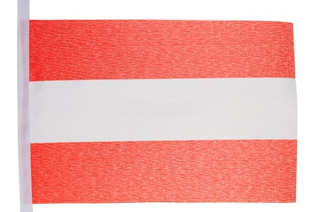 Austrian flag against a white background photo