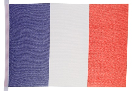 French flag against a white background Stock Photo - 10074654
