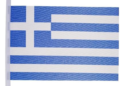 Greek flag against a white background photo