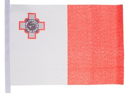 Maltese flag against a white background photo