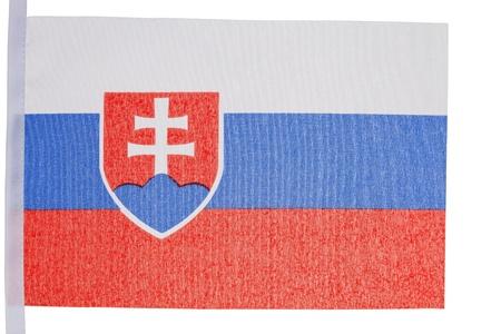 Slovakian flag against a white background photo