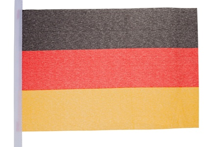 German flag against a white background photo