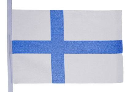 finnish: Finnish flag against a white background Stock Photo