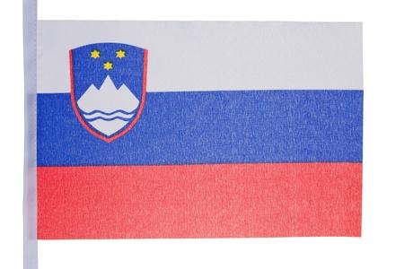 Slovenian flag against a white background photo