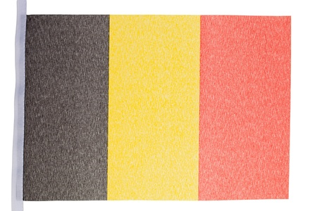 Belgian flag against a white background Stock Photo - 10074650