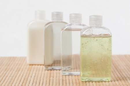 Massage oil bottles photo