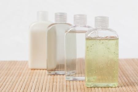 Massage oil bottles photo