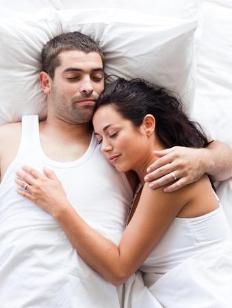Loving couple sleeping  photo