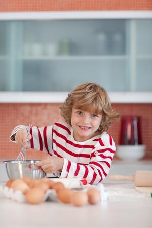 adorable boy mix dough photo